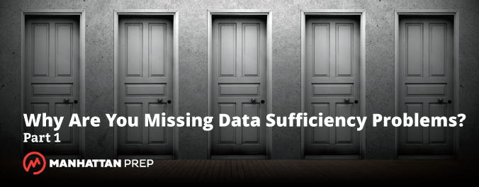 Why are you missing data sufficiency problems blog