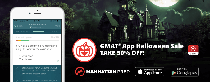 manhattan prep gmat blog gmat app halloween sale take 50 off