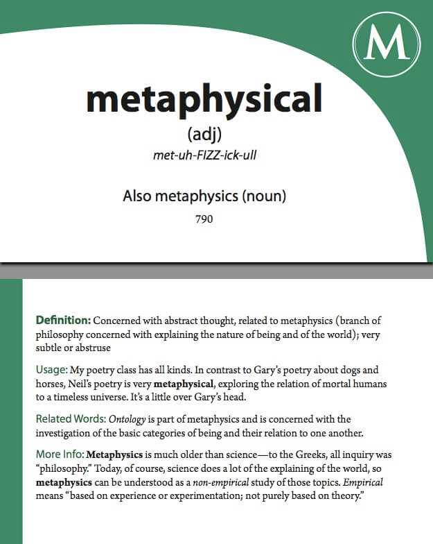 metaphysical questions Metaphysical poets questions and answers - discover the enotescom community of teachers, mentors and students just like you that can answer any question you.