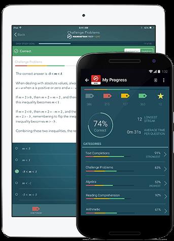 Manhattan Prep GRE Study App - iOS Display - iPad and iPhone