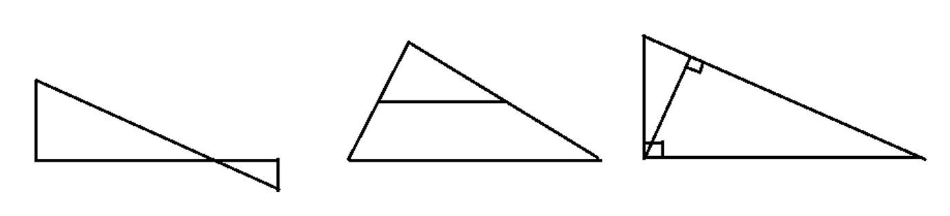 Manhattan Prep GRE Blog - GRE Geometry: 3 Ways to Spot Similar Triangles: Diagram 1