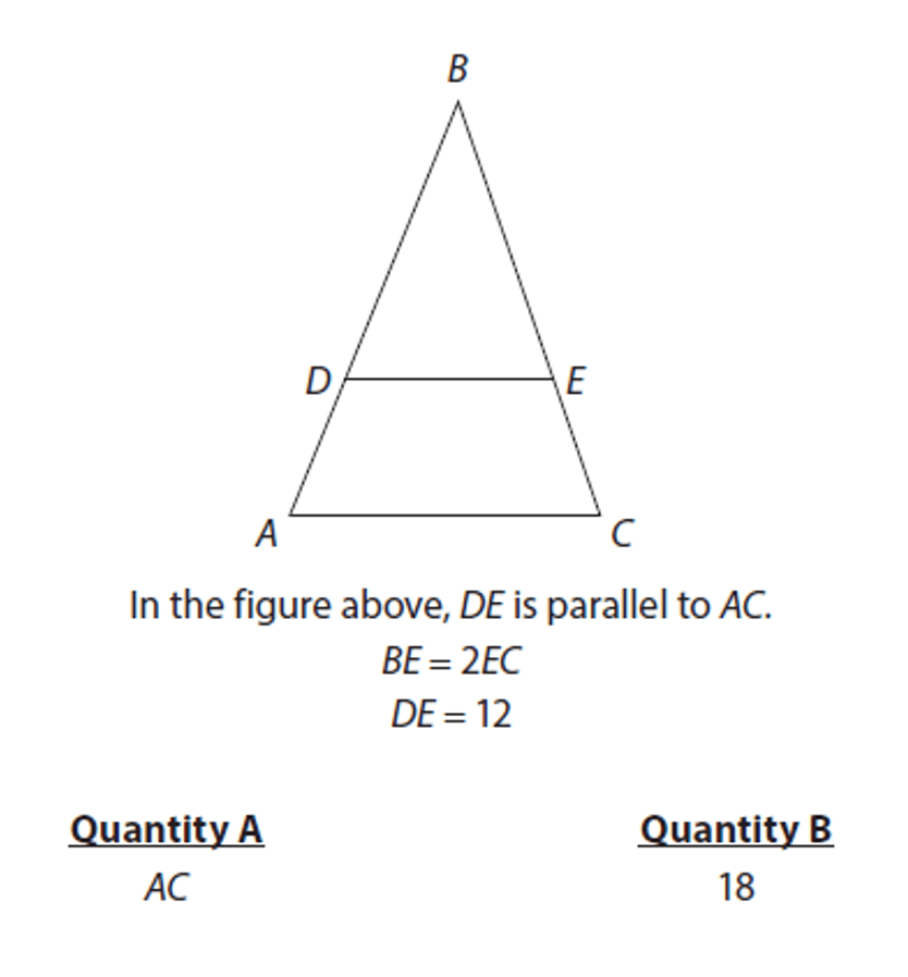 Manhattan Prep GRE Blog - GRE Geometry: 3 Ways to Spot Similar Triangles: Diagram 7